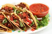 image of mexican food  - delicious Mexican tacos - JPG