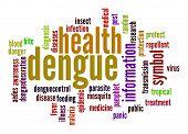 stock photo of malaria parasite  - Dengue word cloud image with hi - JPG