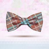 picture of vaudeville  - Vector Illustration of  Tartan bow - JPG