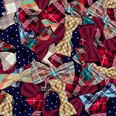 stock photo of vaudeville  - Vector Illustration of  Pattern of vector bow - JPG