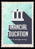 picture of long distance  - Financial Education on Light Blue Background - JPG