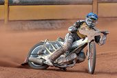 EGGENDORF,  AUSTRIA - APRIL 28 Jernej Pecnik (#12 Slovenia) places 7th in the Austrian speedway cham