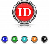 Id Icon - Six Colors Vector Set