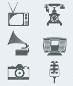 Vector icons Appliance devices