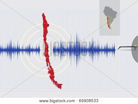 Chile Earthquake Concept