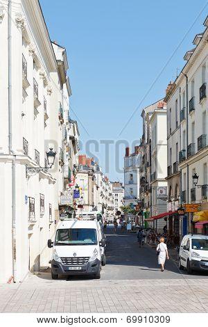 Street Rue Leon Maitre In Nantes, France