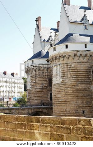 Castle Of The Dukes Of Brittany In Nantes, France