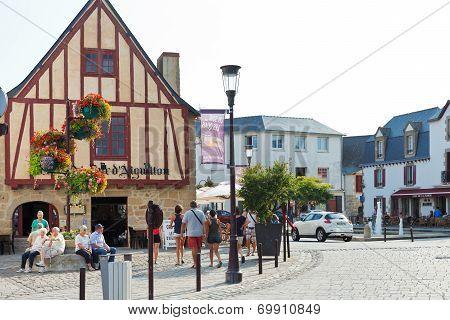 Square Donatien Lepre, Le Croisic Town, France