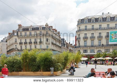 People On Place Ralliement In Angers, France