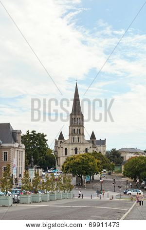 View Of St Laud's Church In Angers, France