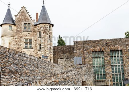 Palace And Walls Of Angers Castle, France