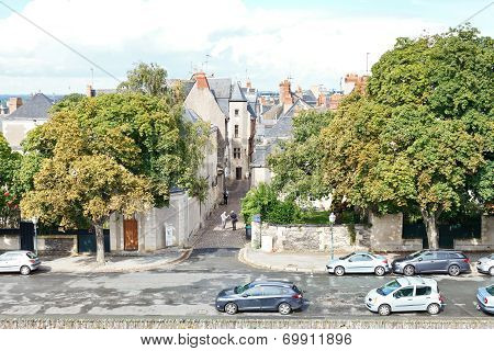 Rue Saint-aignan Street In Angers, France