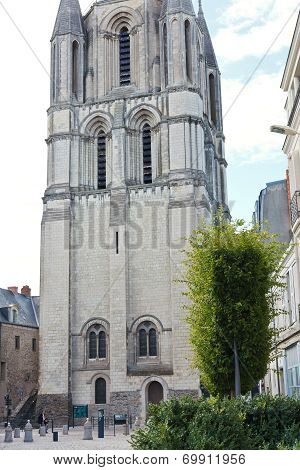 Entrance To Tower Of Abbey Of St. Aubin In Angers