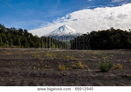 Osorno Volcano Viewed From Lago Todos Los Santos, Chile