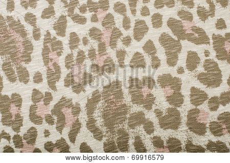 Brown and pink leopard pattern.