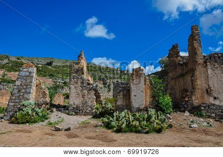 Ruins Of Real De Catorce, San Luis Potosi, Mexico