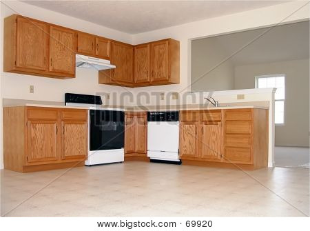 Spacious Kitchen In New House