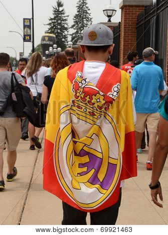 Real Madrid Fan In Ann Arbor