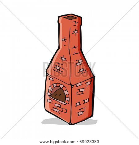 cartoon old stove chimney