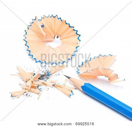 Pencil sharpener isolated on white background.