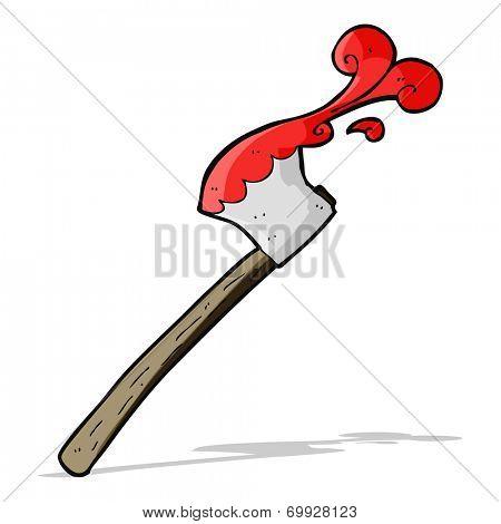 cartoon bloody axe