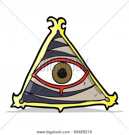 cartoon mystic eye symbol
