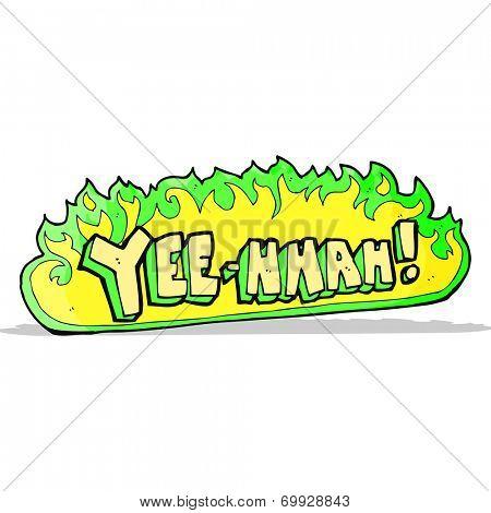 yee hah! cartoon