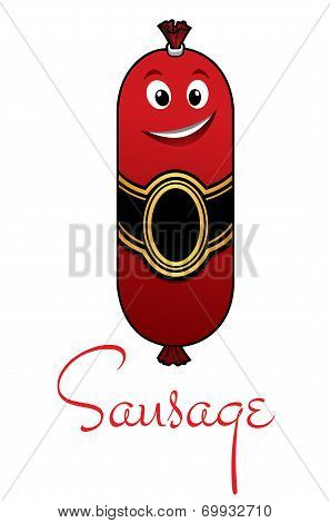 Cartoon meaty sausage