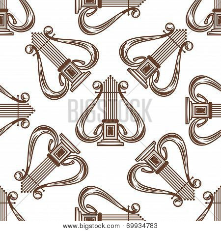 Seamless musical harp pattern