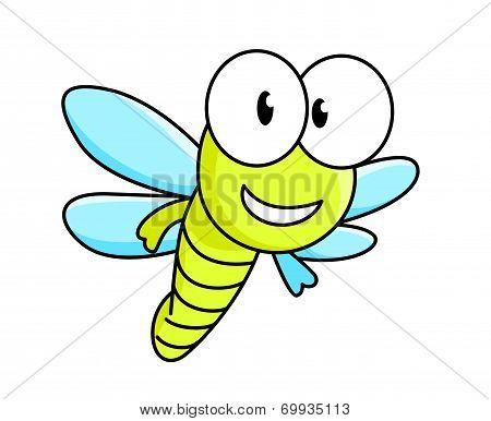 Cartoon dragonfly character