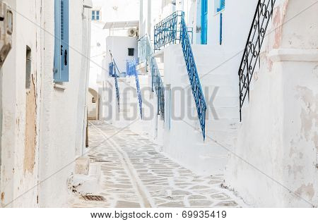 Traditional Architecture On The Cyclades In Greece.