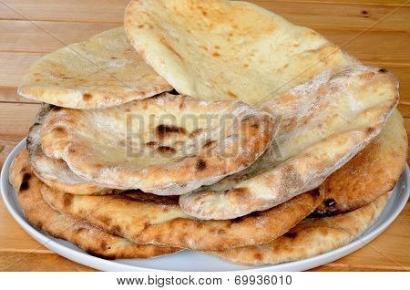 Coriander and garlic Naan bread.