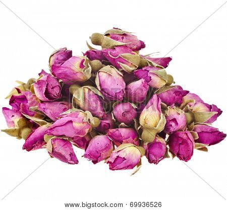 Tea-Rose Buds  isolated on white background