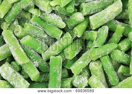 Frozen french beans.