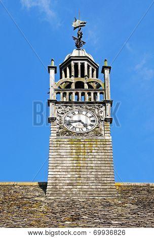 Decorative clock tower, Moreton-in-Marsh.