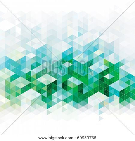 Abstract geometric green urban background. Raster.