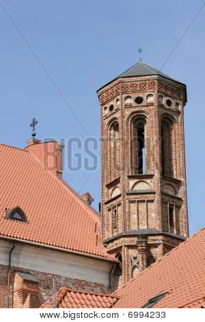 Tower of Bernardine church in Vilnius