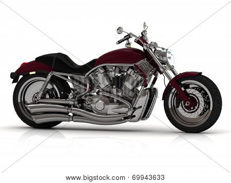 Motorcycle With Steel Pipe