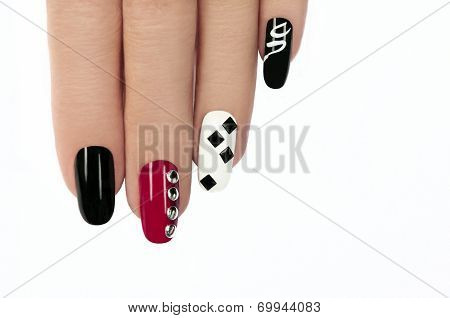 Graphic manicure.