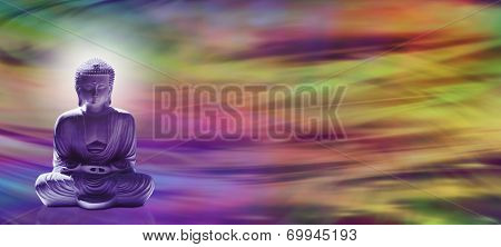 Meditating Buddha website header