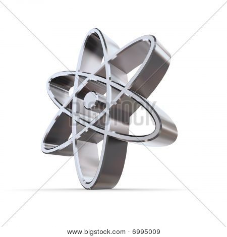 Solid Shiny Atomic-nuclear Symbol