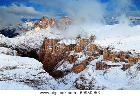 Sella Group in the Dolomites, Italy, Europe