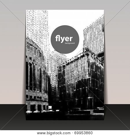 Flyer or Cover Design with Halftone Background - Canary Wharf London