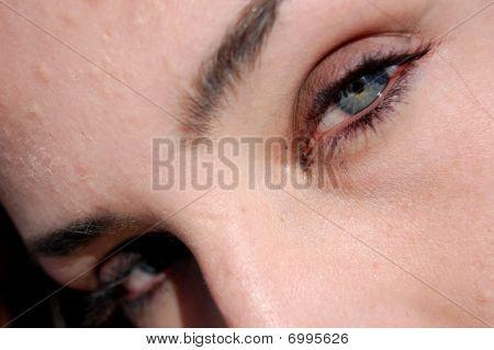 Closeup extrema dos olhos