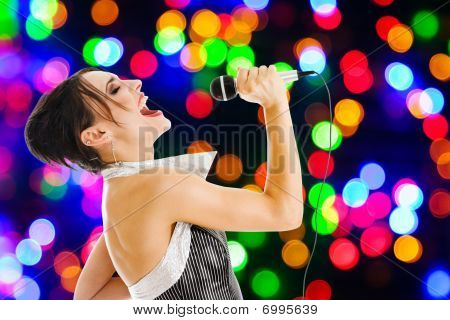 Singer At A Night Club