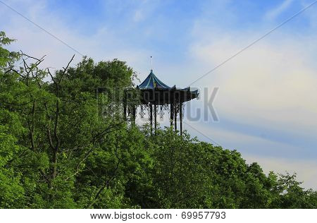Chinese Arbor In Pyatigorsk, The Mashuk Mountain