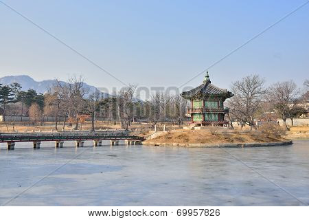 Hyangwonjeong In Gyeongbok Palace In Seoul, Korea