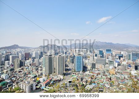 View Of Jung-gu From Namsan In Seoul