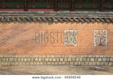 Close-up Of Korean Traditional Wall Pattern In Gyeongbokgung