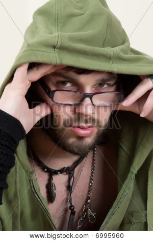 Young Man In A Hoodie